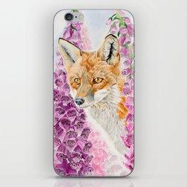 Foxglove Fox iPhone Skin