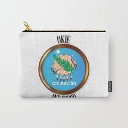 Oklahoma Proud Flag Button Carry-All Pouch