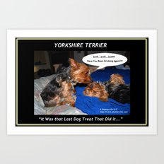 Yorkshire Terrier - Have You Been Drinking Again Art Print