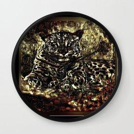 Big Cat Models: Leopard Laze 01-03 Wall Clock