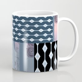 #Pink #blue #patchwork # country Coffee Mug