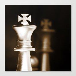 Chess-Sliver King Canvas Print