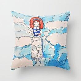 Sky Girl Throw Pillow