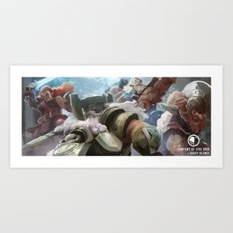 Through the Beards and the Blades Art Print