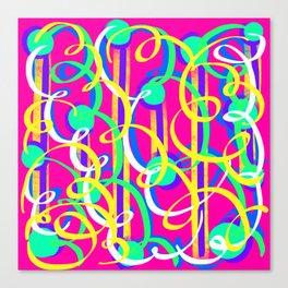Streamer Celebrations on pink Canvas Print