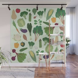 Make Friends With Vegetables Wall Mural
