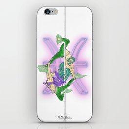 Pisces Zodiac Pole Dancers iPhone Skin