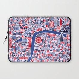 London City Map Poster Laptop Sleeve