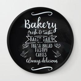 Bakery Chalkboard poster Wall Clock