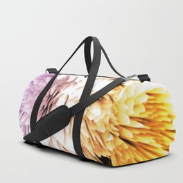 Mums abstract with shades of purple and gold Duffle Bag
