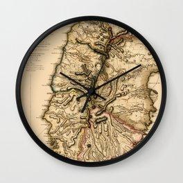 Map Of Grenada 1780 Wall Clock