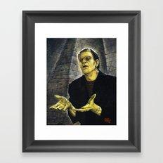 Frankenstein: LIGHT Framed Art Print