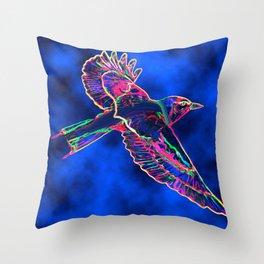 Bird of the Mist Throw Pillow