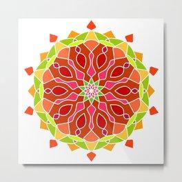 Vintage Mandala Flower Metal Print