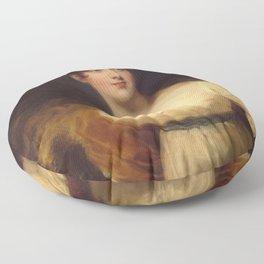 Thomas Lawrence - Portrait of Emily Harriet Wellesley-Pole (Lady Raglan) (1792-1881) Floor Pillow