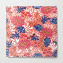 Autumn flower garden Metal Print