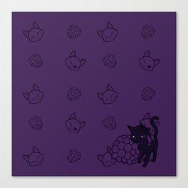 Blackberry Kitty Canvas Print