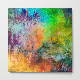 Vibrant Constellations Abstract Design Metal Print