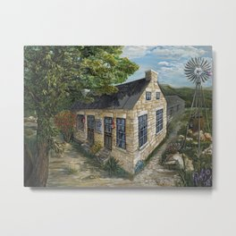 1870's Life at Ogletree Post Office & Stage Stop Metal Print
