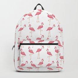 Pink Flamingo Pattern Backpack