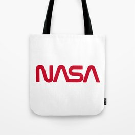Red Nasa Tote Bag