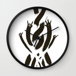 HANDS UP! Wall Clock