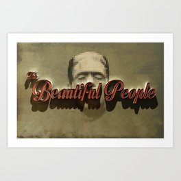 The Beautiful People  Cover Art Print