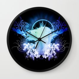 Awesome polar bear Wall Clock