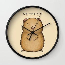 Grinny Pig Wall Clock