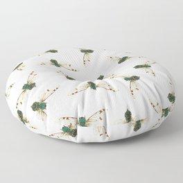 Cicada Jewels (White & Noir) Floor Pillow