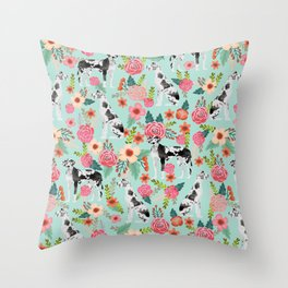 Great Dane dog breed florals mint pattern print for dog owner with great dane must have gifts Throw Pillow