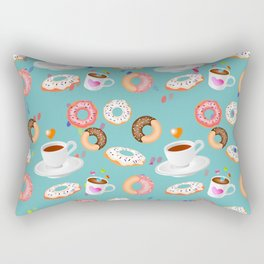Coffee and Doughnuts Rectangular Pillow