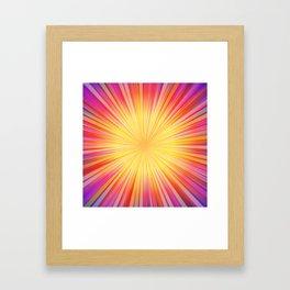 Rays of sunshine Framed Art Print