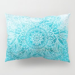 Fade to Teal - watercolor + doodle Pillow Sham