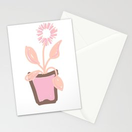 FLOWER POT PASTEL PINK Stationery Cards