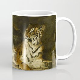 """Eugène Delacroix """"Tiger playing with his mother"""" Coffee Mug"""