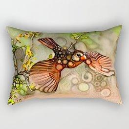 Lady Cardinal Rectangular Pillow