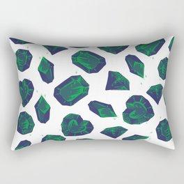 Retro Vintage St Patricks Day Green Gems Rectangular Pillow