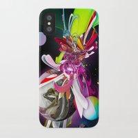 runner iPhone & iPod Cases featuring Splash Runner by Andre Villanueva