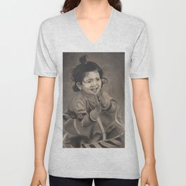 Next Door Baby Girl Playing with Mud Unisex V-Neck