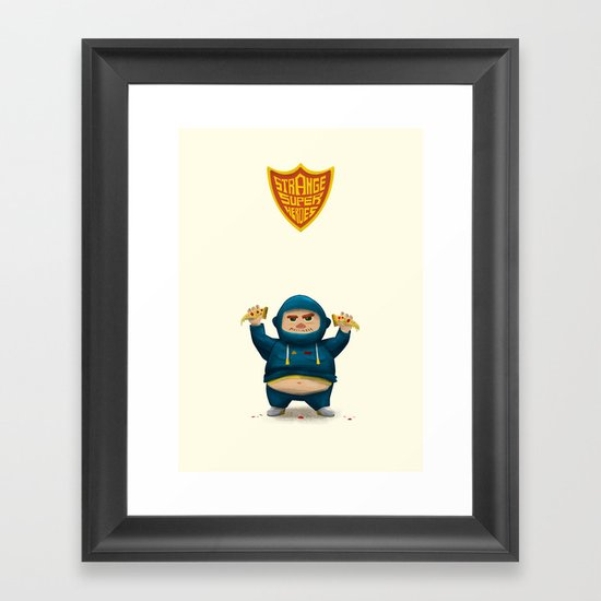 Fat Ninja Framed Art Print