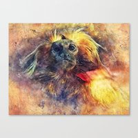 monkey Canvas Prints featuring Monkey by jbjart