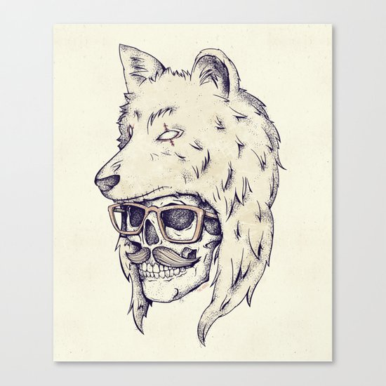 WOLF HAT Canvas Print