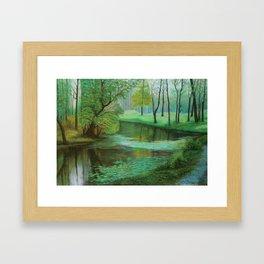 Mysterious Forest Framed Art Print