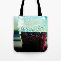 coke Tote Bags featuring Coke  by Jo Bekah Photography