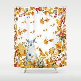 fall pattern Shower Curtain
