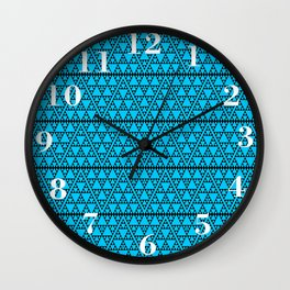 Triangles in triangles on Blue Wall Clock