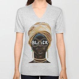Black Woman Unisex V-Neck