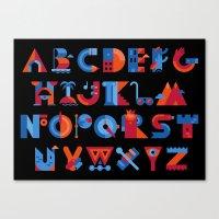 alphabet Canvas Prints featuring Alphabet by koivo
