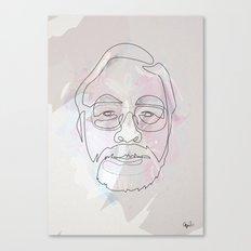 One Line Miyazaki Canvas Print